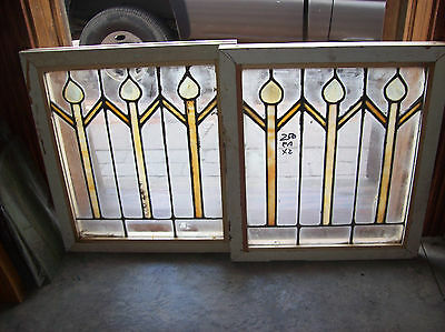 3 stained glass figures in flat glass  (SG 1454)