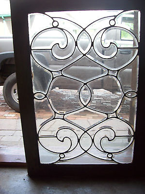 swirly beveled glass window  (SG 1466)