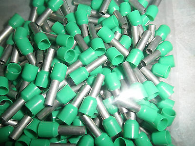 Lot of 150 - Tin Plated Copper Ferrule DZ5-CE062 - Green for 6mm or #10AWG