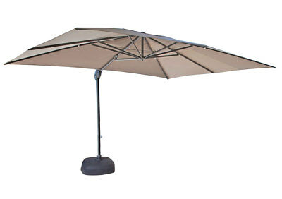 SHELTA SAVANNAH CANTILEVER UMBRELLA 3m x 4m Rectangle 98% UV - VARIOUS COLOURS