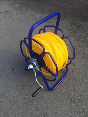 Metal Hose reel with 100m of 8mm MINIBORE hose & fittings WFP