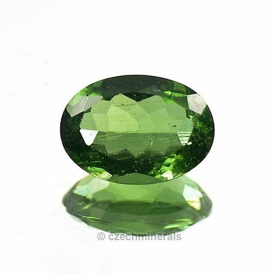 4.82cts oval normal cut 10x14mm moldavite faceted cutted gem BRUS771