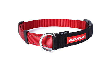 EzyDog Red Checkmate Dog Collar - Choice of Sizes