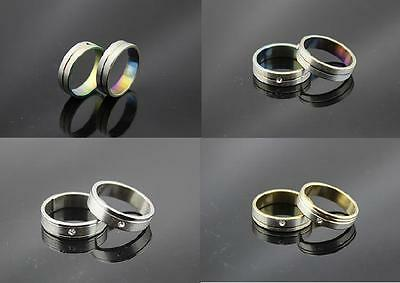 Job Lots Mixed 3 color 50pcs Stainless steel &CZ Trendy Men/Women Rings Jewelry