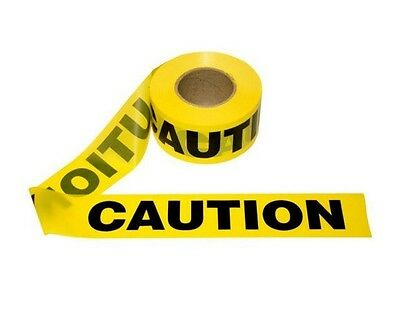"12 Rolls CASE Yellow CAUTION Tape 2 MIL 3""x1000' Barrier Barricade 3x1000 2mil"