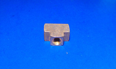 Solid Brass Pipe Tee 1/8 Inch Female NPT Air Fuel Water