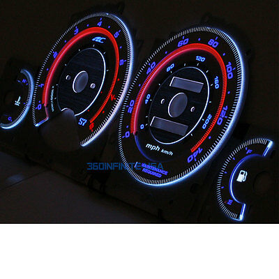 Autotechnic AUTO/MANUAL s7 Overlay Cluster Gauge Gauges for 96 97 HONDA ACCORD