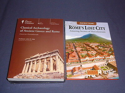 Teaching Co Great Courses DVDs    CLASSICAL ARCHAEOLOGY GREECE ROME  new + BONUS