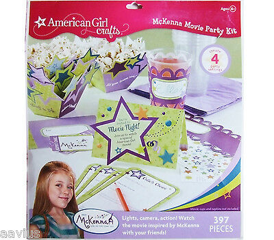 American Girl Craft Kit ~ McKenna Movie Party Kit ~ Throw a movie party! ~ NEW