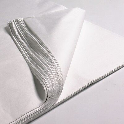 200 x SHEETS OF WHITE TISSUE WRAPPING PAPER SIZE 450 X 700MM 18 X 28""