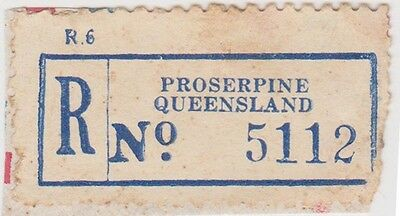 (RB78) 1950 QLD registration label Proserpine no5112