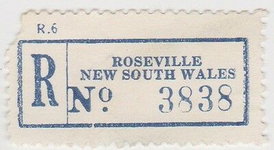 (RB66) 1950 NSW registration label Roseville no3838