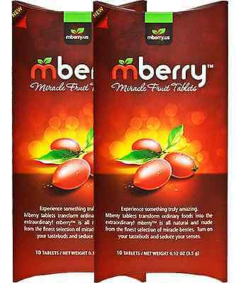 2 Packs Miracle Berry Fruit Tablets - mBerry originals 99% Miracle Berries