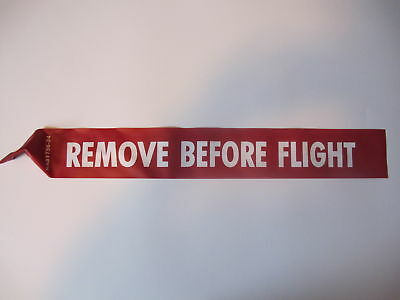 "REMOVE BEFORE FLIGHT STREAMER 12"" Long x 3"" Wide US MADE"