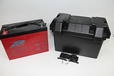 Battery Box With 12V 105Ah 800Cca,deep Cycle Agm Dual Battery System Car Fridge