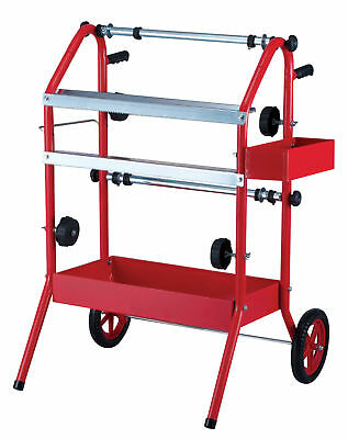 "Twin Masking Trolley/Machine Takes 2 x 18"" Paper Rolls Dispenser Paint Masking"