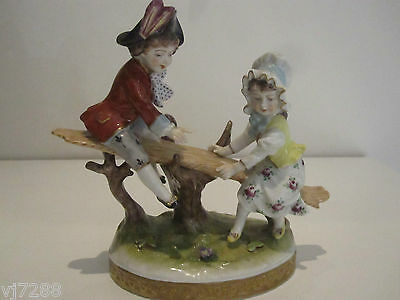 Volkstedt Hand Painted Porcelain Figurine