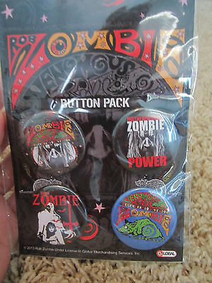 4 Rob Zombie Pins *brand New*
