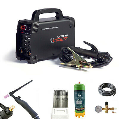 ARC / TIG Caddy Welder Value Starter Combo Kit UNIMIG Viper with $1000 of value!