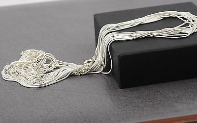 """Nickel free 1.2mm silver plated snake necklace chains 16-18 """" long DIY Craft"""