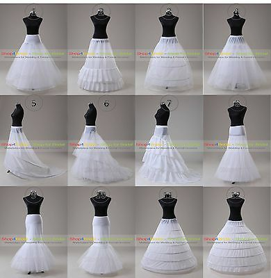 White A Line Hoop/Hoopless Ball Gown Silps Crinoline Petticoat Underskirts