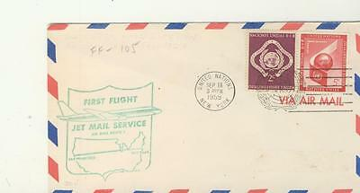 FF-105  First Jet Mail Service Flight NY- San Francisco 1959 with arrival Pmk