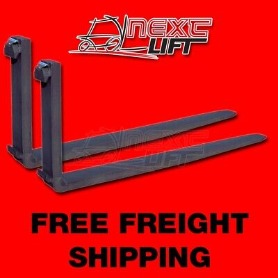 """New Class Iii 3 8 Ft Forks 2"""" X 6"""" X 96"""" (Pair) Forklift Fork Foot"""