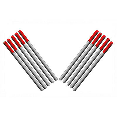 2.4mm 2% Thoriated TIG Tungsten electrodes Pack of 10 - Short 55mm.