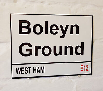 - GIFT // PLAQUE CL West Ham United F.C Street Sign