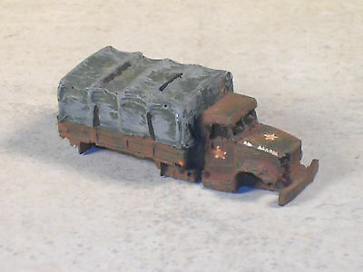 N Scale Stack of Rusted Out Pickup Trucks
