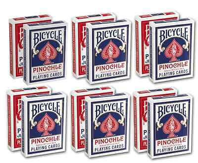 12 Decks of Bicycle Pinochle Playing Cards