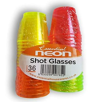 Disposable Plastic Neon Coloured Party Jelly Shot Glasses Cups 40 80 120 BN