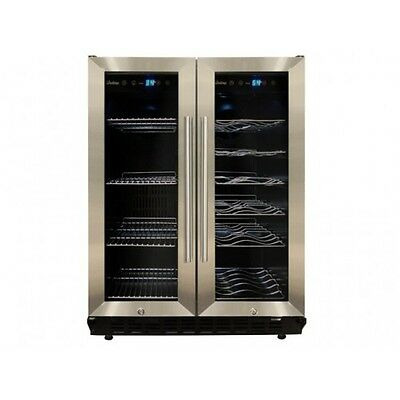 Stainless Steel Freestanding Dual Zone Wine Cooler And Refrigertor