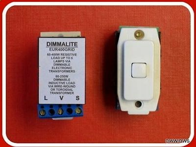 SOFT START DIMMER Modules Fits Crabtree Grid Switch System 60-400 ...