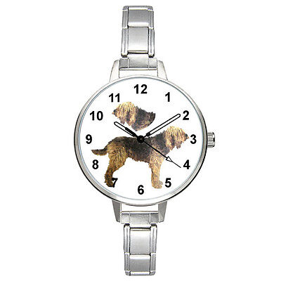 Otterhound Dog Stainless Steel Italian Charm Bracelet Mens Ladies Watch BM419