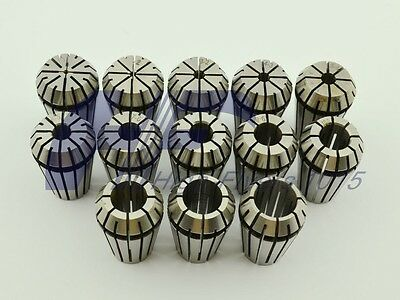 ER20 13 PCS Spring Collet Set for CNC Workholding Engraving & milling Lathe Tool