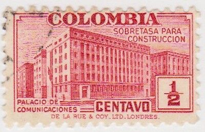 (CO48) 1940 COLOMBIA ½c red Po Bogota ow543