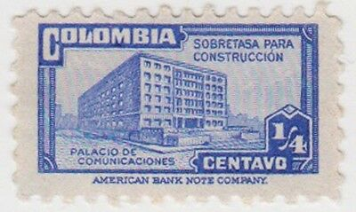 (CO64) 1945 COLOMBIA ¼c blue ow609