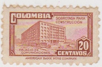 (CO69) 1945 COLOMBIA 20c brown ow617a