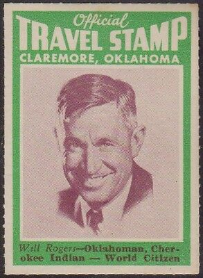 (RC9) 1960 USA 5x Will Rogers official travel stamps