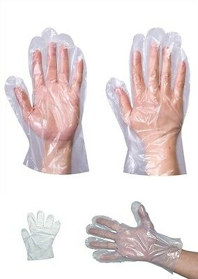 Polythene Plastic 100 Disposable Gloves Cleaning Car Catering Food Safe Hygiene