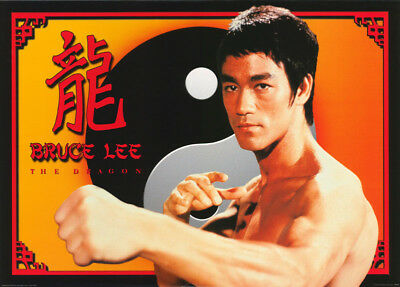 Poster: Movie Repro:  The Dragon - Bruce Lee - Free Shipping !  #pf2147   Rc27 B