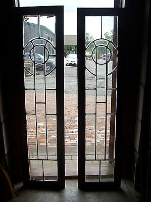 Pair of Beveled glass sidelites circle feature  (SG 1470)