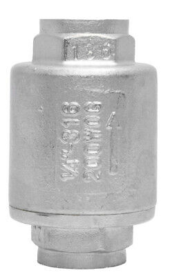 "1/4"" Stainless Steel (316) In Line Spring Check Valve - 150 LB Class"