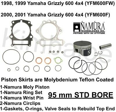 Standard Bore 95.00mm For 1998 Yamaha YFM600FW Grizzly 4x4 ATV Top End Repair Kit