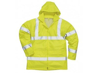 Lightweight Yellow Hi Vis Jacket High Visibility Waterproof Safety Work Jacket