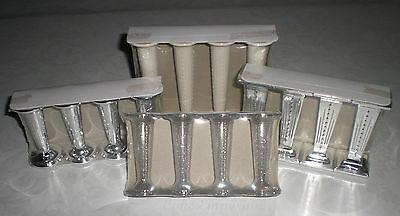"Wedding Cake Pillars -Silver, Ivory, Glitter, Clear -3""-3.5""-4.5"" Set Of 4"