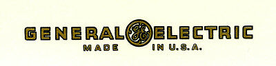 General Electric CATALIN Radio Decal
