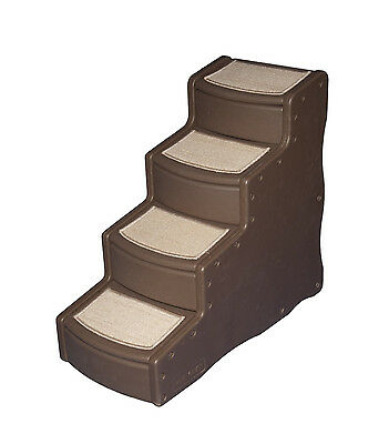 Pet Gear Easy Step 4 Steps Dog Cat Pet Steps Ramp Choco