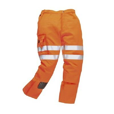 Hi Vis Orange Rail Combat Cargo Trousers High Visibility Safety Work Trouser
